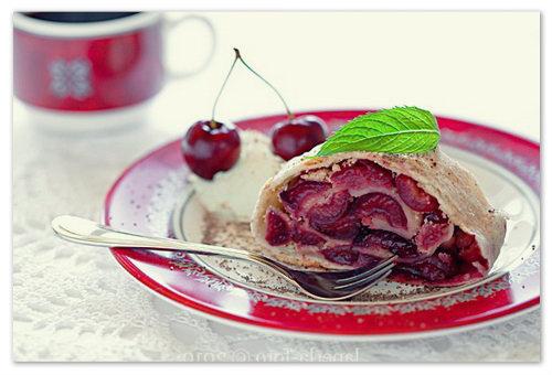 вишнёвый штрудель пошаговый рецепт с фото
