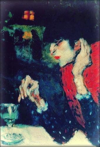 Абсент и искусство. Пабло Пикассо — Любительница абсента.