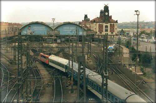 Главный вокзал Праги.