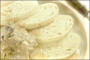 Рецепт хлебных кнедликов.