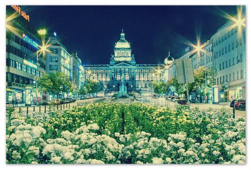 Июньский вечер на Вацлавской площади.
