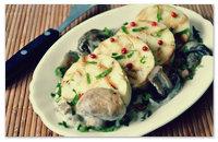 Рецепт кнедликов с грибами.