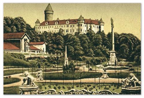 Конопиште на старой открытке.