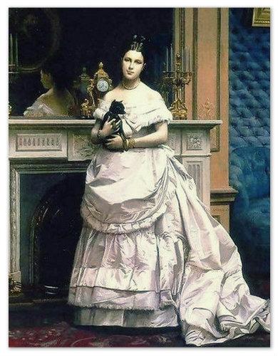 А это портрет чешской королевны. Кто бы вы думали у неё на руках?