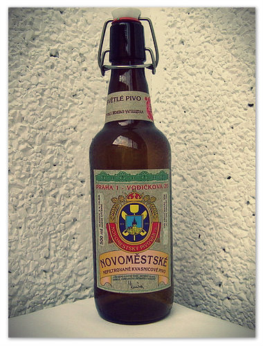 «Novoméstské nefiltrované kvasnicové pivo» — сварено прямо здесь.