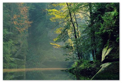 Ну кто ожидал увидеть во время сплава по реке такую красоту?