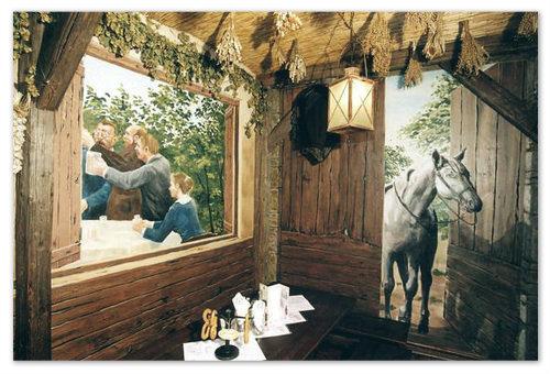 Иной раз, выпьешь пива, и «О, лошадь пришла!», а это она, оказывается, на стене нарисована, а зал тот называется «Сарай». Но пиво уж больно вкусное!