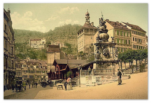 Karlsbad — фото со старинной открытки.