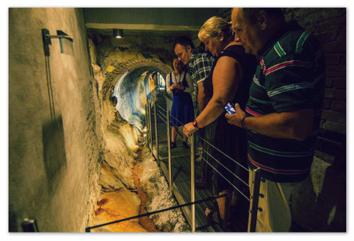 Эти мужики и бабы залезли вниз, в подземелье — под самые Карловы Вары, чтобы убедиться, что здесь просто до хрена солевых отложений.