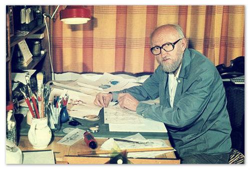 Чешский мультипликатор Václav Bedřich — создатель Стремянки и Макаронины.
