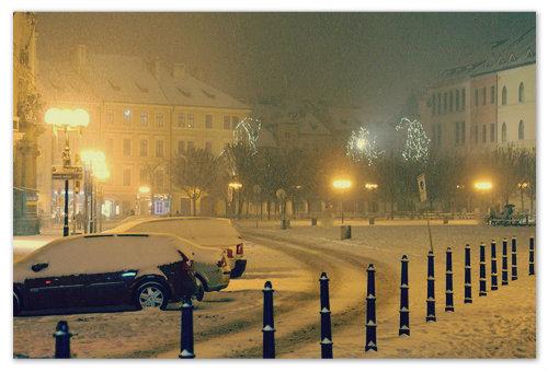 В день Рождества на пражских улицах только Шкоды.