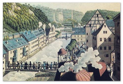 В 1882 году выпаривание соли в Карловых Варах началось со страшной силой и приняло промышленный масштабы.