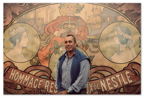На открытии выставки Ivan Lendl: Alfons Mucha в Праге.