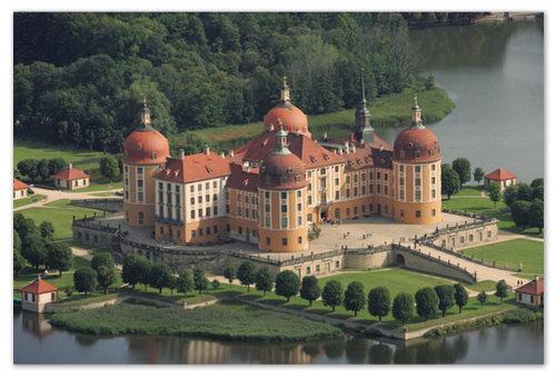 Замок Schloss Moritzburg — произведение немецкого архитектурного искусства — здесь и снимали.