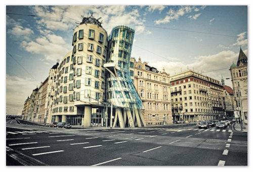 Танцующий дом в Праге — страсть Чехии, воплощенная в архитектуре: фото, адрес достопримечательности на карте