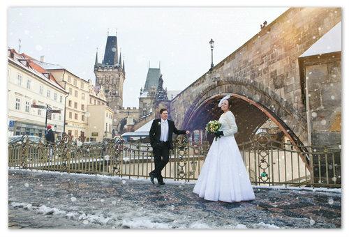 Свадьба в Праге в январе.