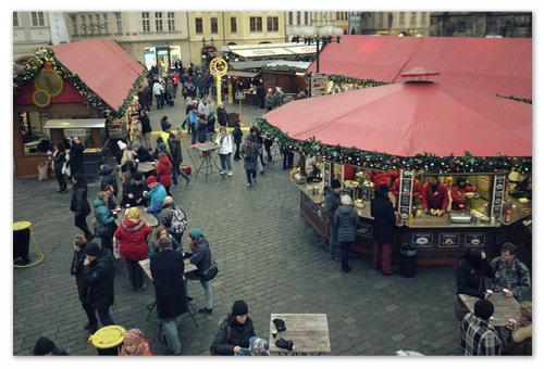 Староместская площадь перед Рождеством.