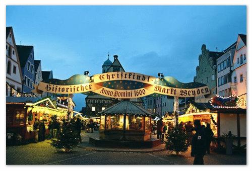 Рождество в городе Weiden в Германии.