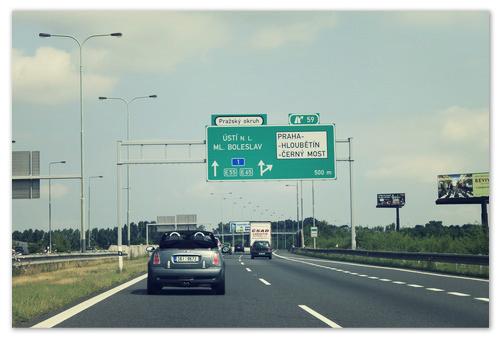 Автобан в Чехии.