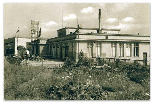 Letiště Karlovy Vary. Историческое фото.
