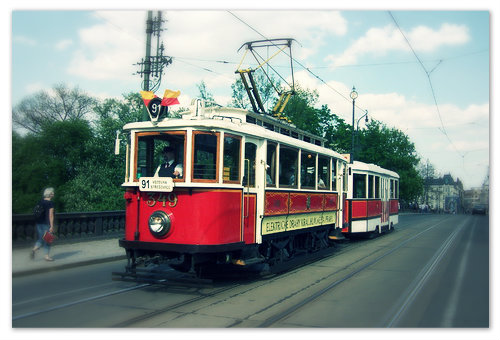 Пражский трамвай №91.