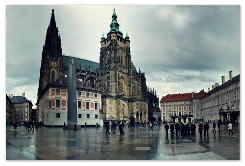 Самый известные собор в Праге.