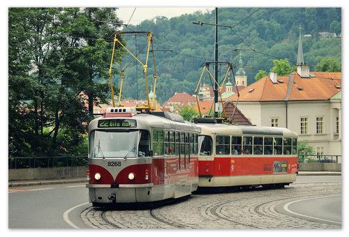 Пражский трамвай.