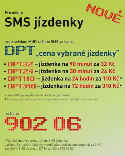 Покупка электронного билета по мобильному телефону в Праге.