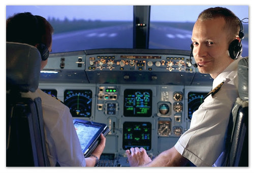 Лётчики гражданской авиации.