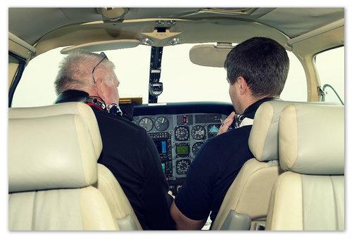 Обучение лётчика.
