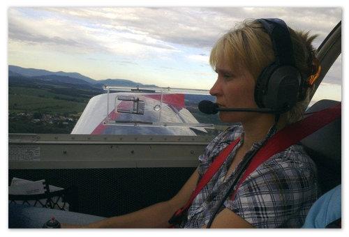 Женщина-лётчик в Чехии.