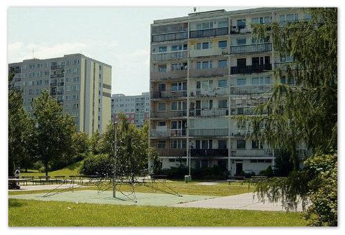 Дом советской постройки в чешской столице.