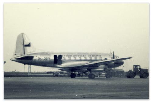 Старое фото самолёта Илюшин.