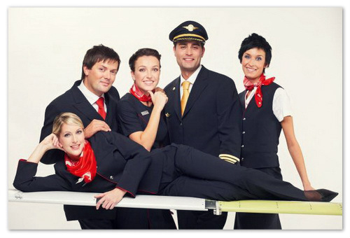 Дружелюбный персонал авиакомпании.