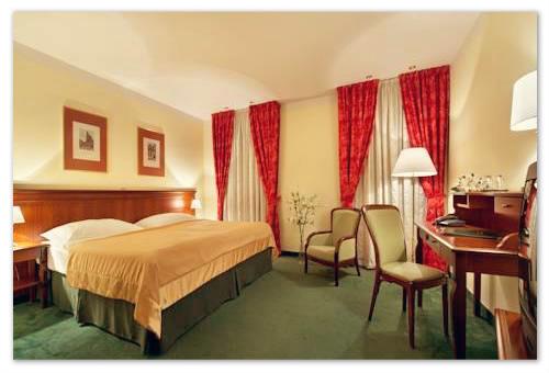 Жилая комната в отеле Jeleni Dvur