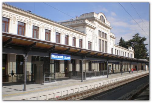 Вокзал Марианске Лазне.