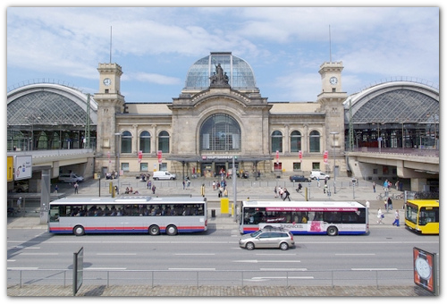 Главный вокзал Дрездена.