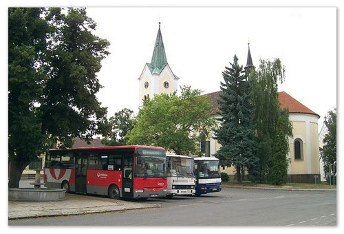 Автобусы из Праги.