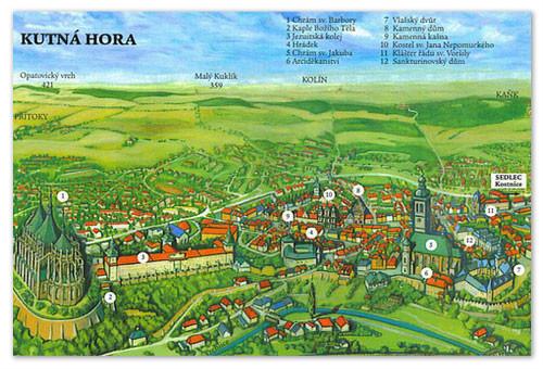 Достопримечательности города Кутна Гора в Чехии.