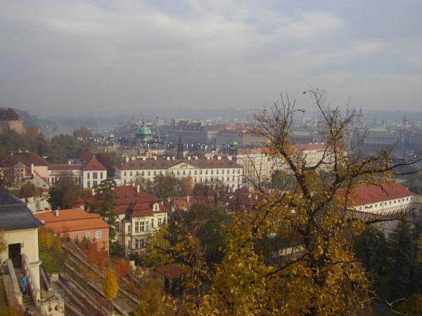 Прага с высоты.