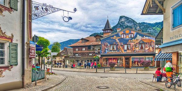 Альпийская деревня Обераммергау.