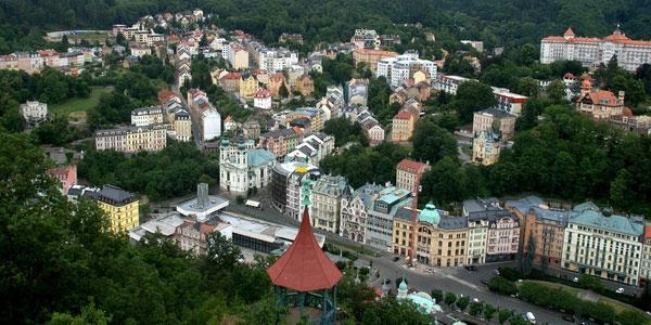 Панорама города.