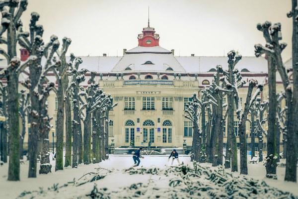 Зимний курорт.